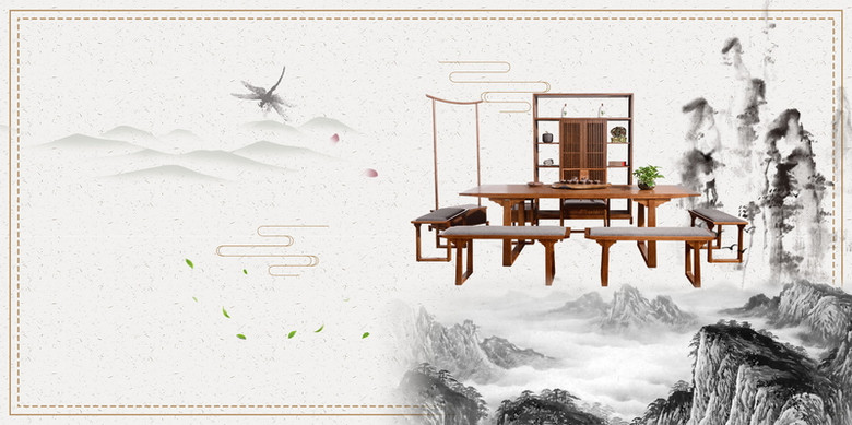 中国风中式家具背景图片