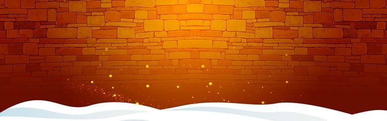 圣诞节暖色背景