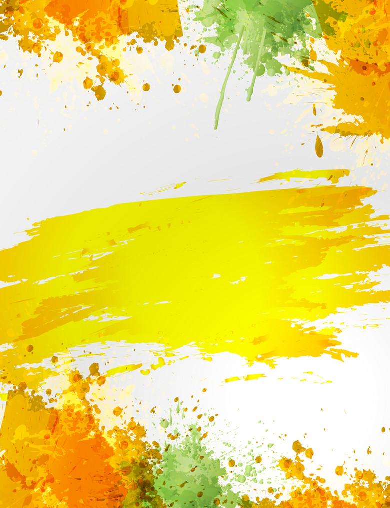 水彩喷溅毛笔刷涂鸦矢量背景
