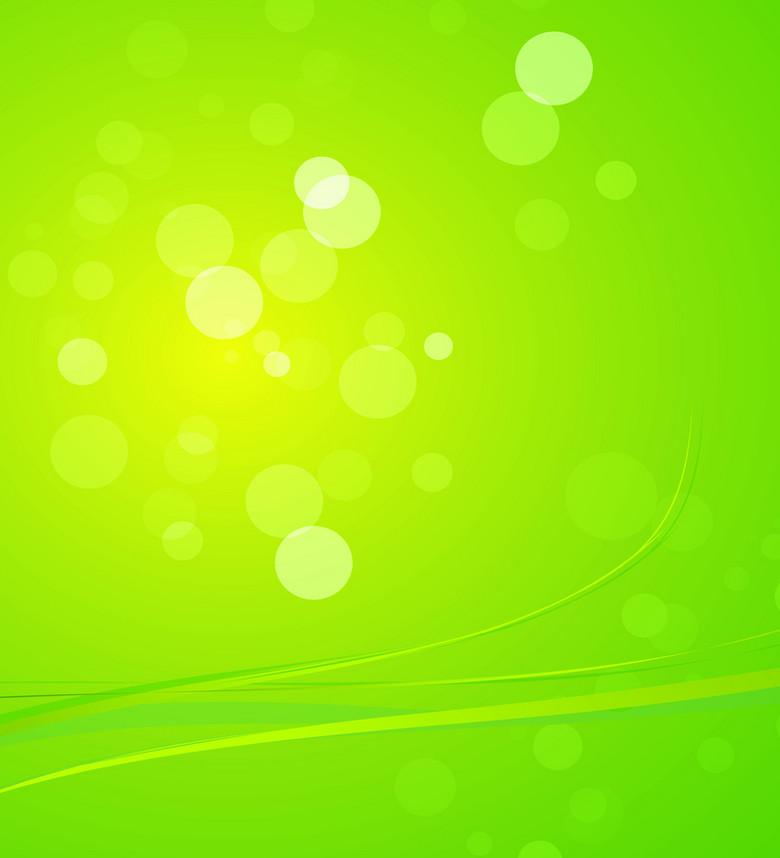 绿色动感光线背景矢量素材