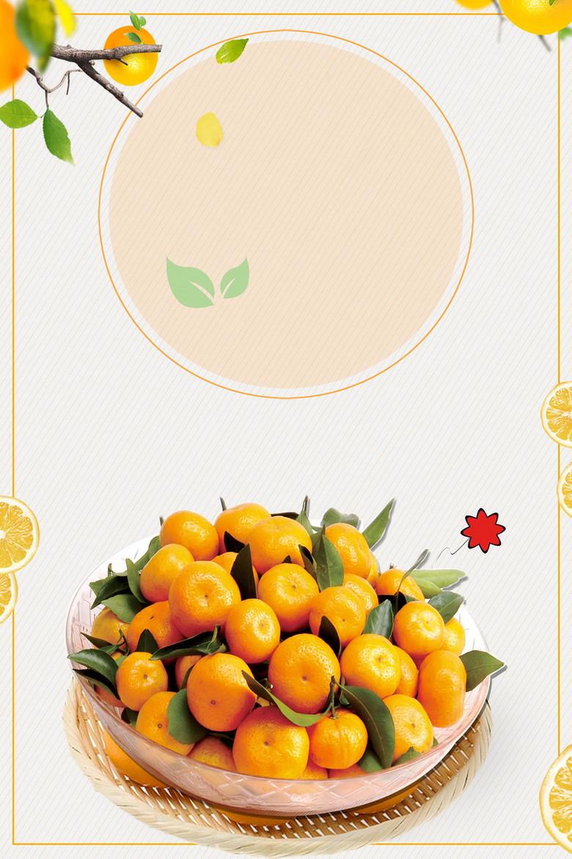 小清新新鲜蜜桔水果