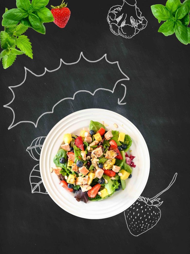 蔬菜水果莎拉宣传海报