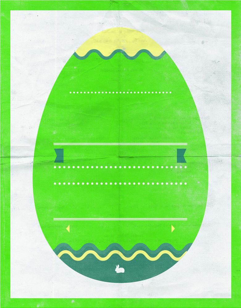绿色彩蛋海报背景素材