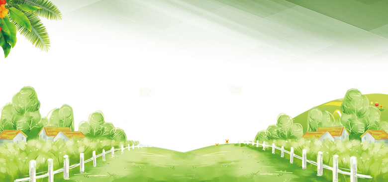 春天绿色草地海报背景