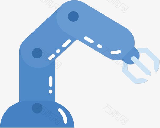 科技感蓝色机械臂