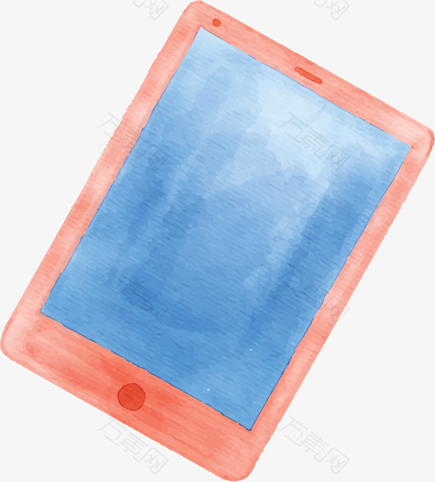 粉红色手绘水彩平板