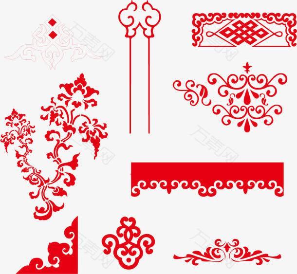 春节海报促销产品边框