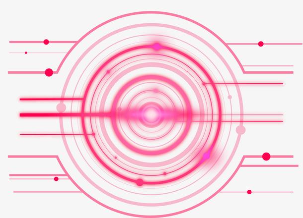 手绘商务高科技光线线条