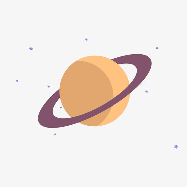 2.5D插画立体化电脑设计行星素材