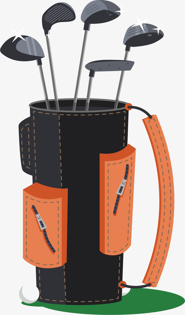 黑色高尔夫球杆背包
