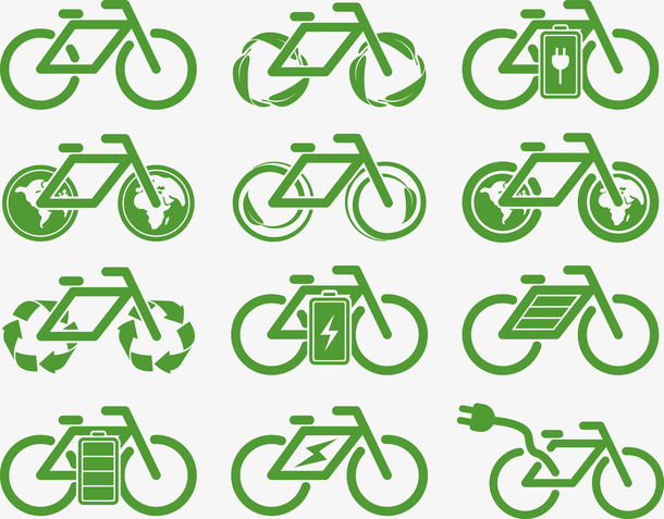 自行车绿色环保标识