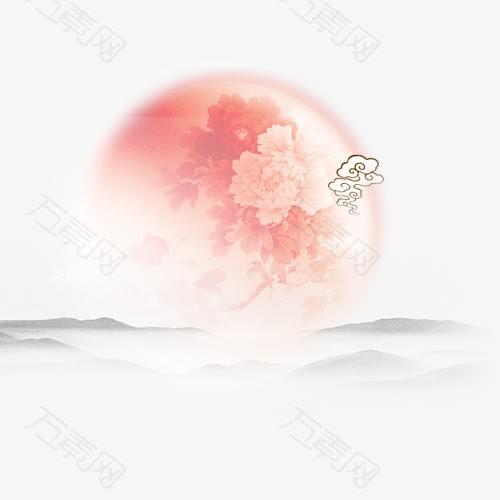 中秋高清多图层素材 月亮