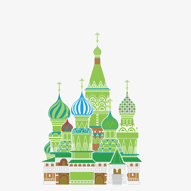 矢量西式童话城堡
