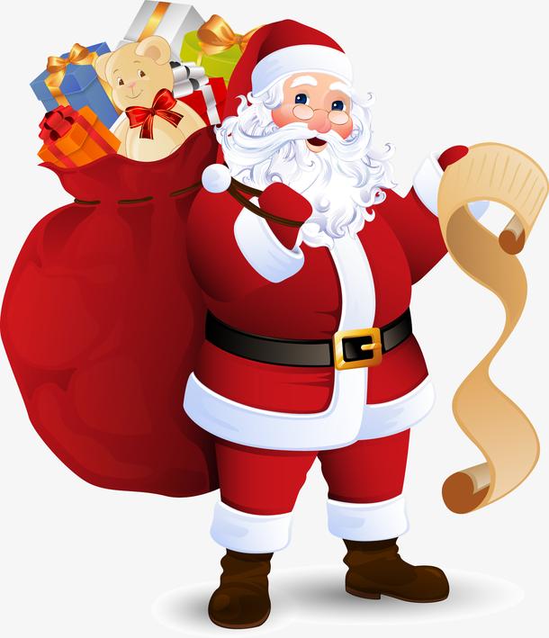 卡通圣诞老人造型矢量素材