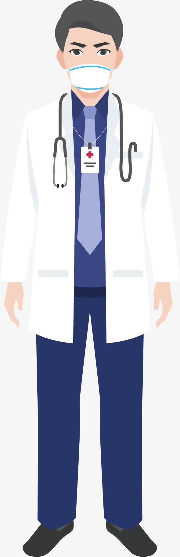 带口罩医生