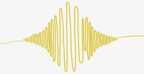 黄色声音波纹