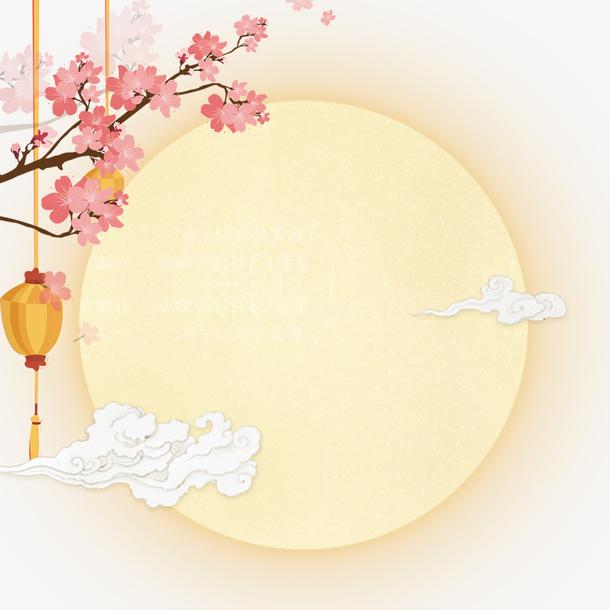 中国风中秋节的圆月设计