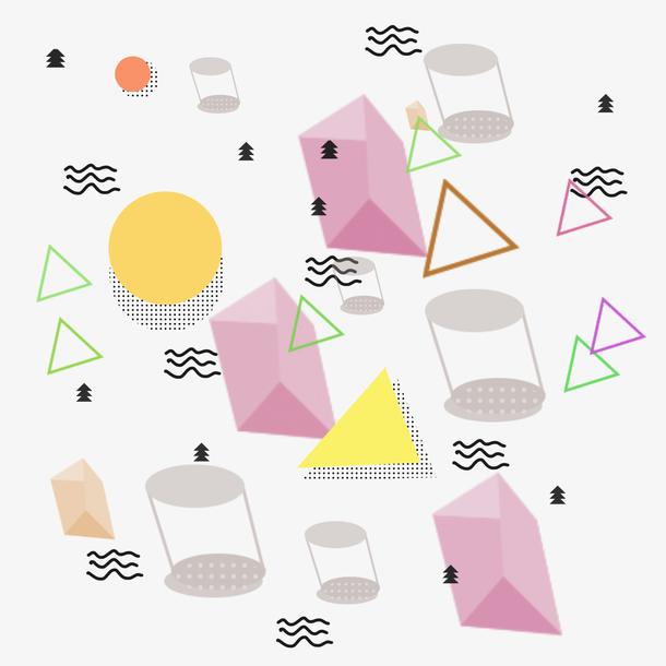 彩色几何孟菲斯元素
