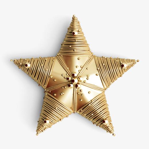 金色圣诞节五角星元素