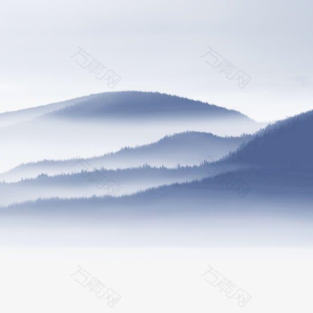中国风水墨山水烟雨图