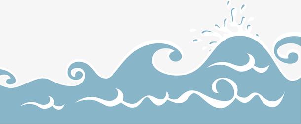矢量图蓝色的大海
