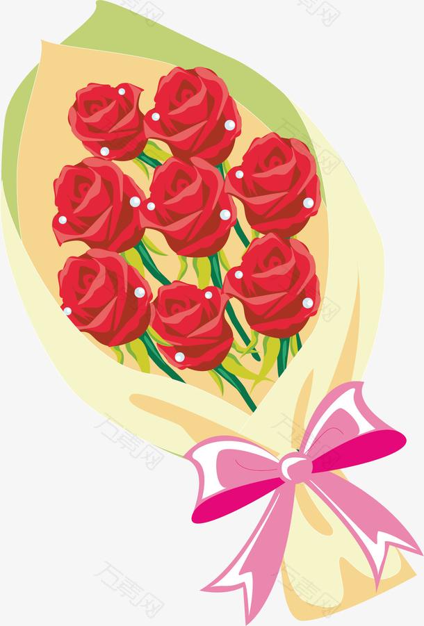 七夕情人节玫瑰花装饰