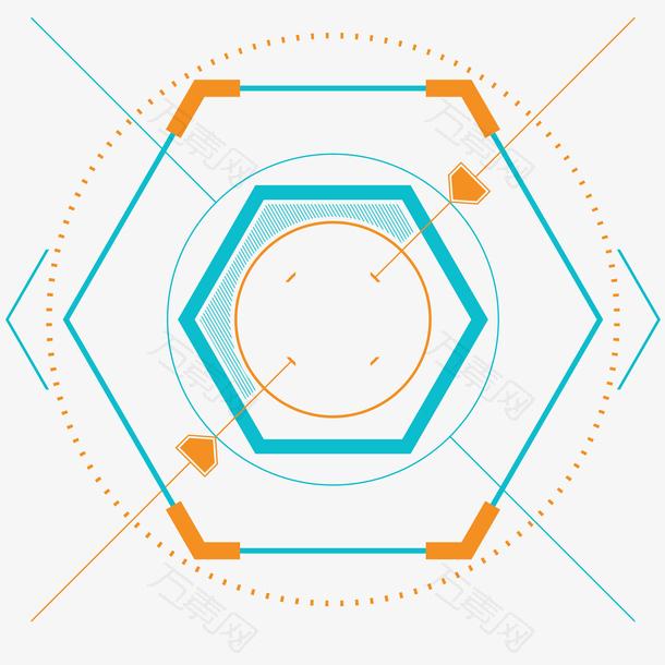 科技感图表插画