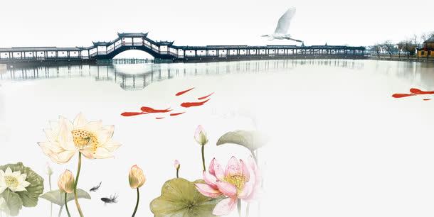 中国风意境山水背景素材