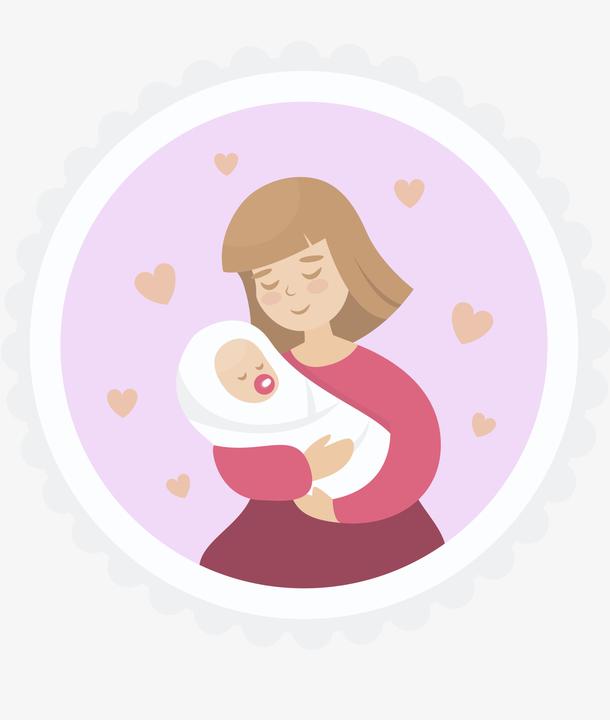 美丽的母亲背景与她的婴儿