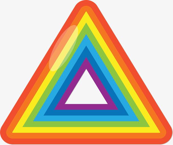 三角形彩虹条纹边框