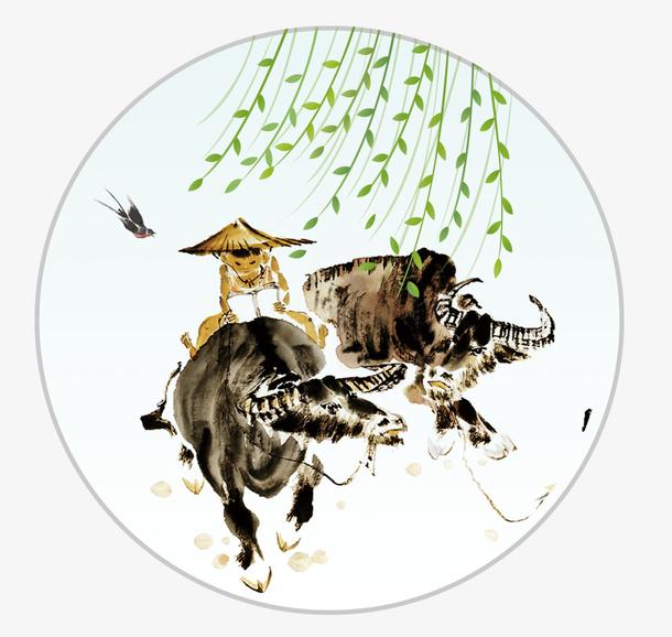 清明节中国风水墨banner