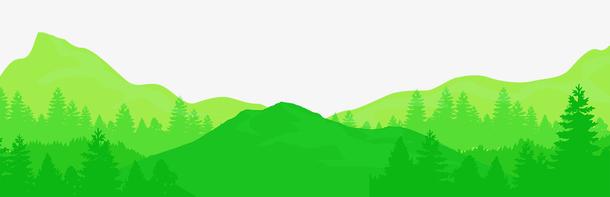 绿色手绘水彩重阳节banner