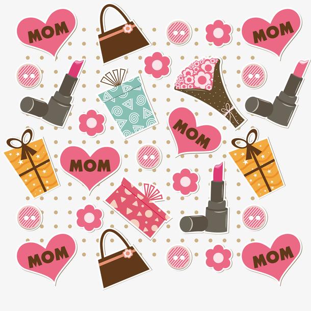 母亲节庆祝活动的无缝矢量