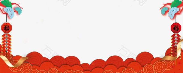 2018春节红色分层创意背景边