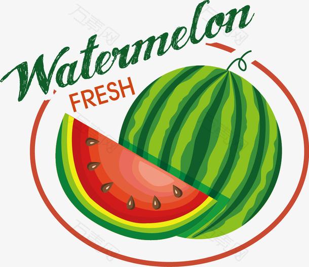 水果标签素材--西瓜