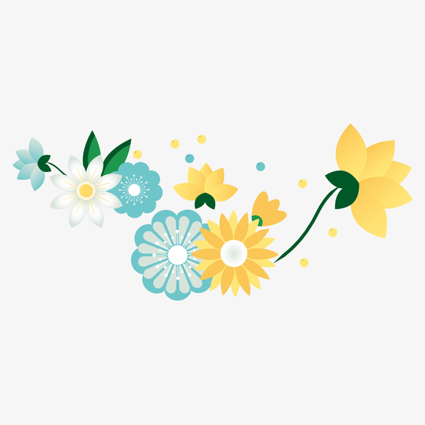 母亲节清新手绘花朵装饰素材