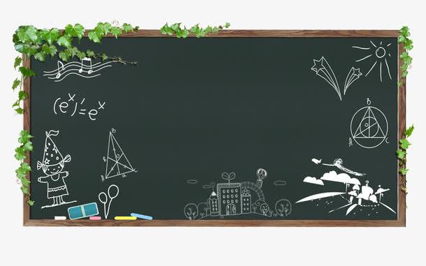 被涂画的黑板