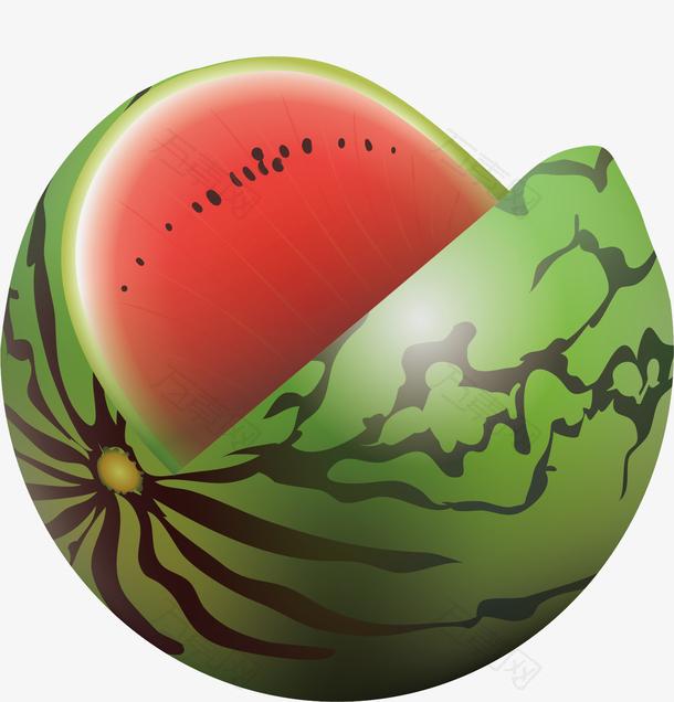 图绿色的大西瓜
