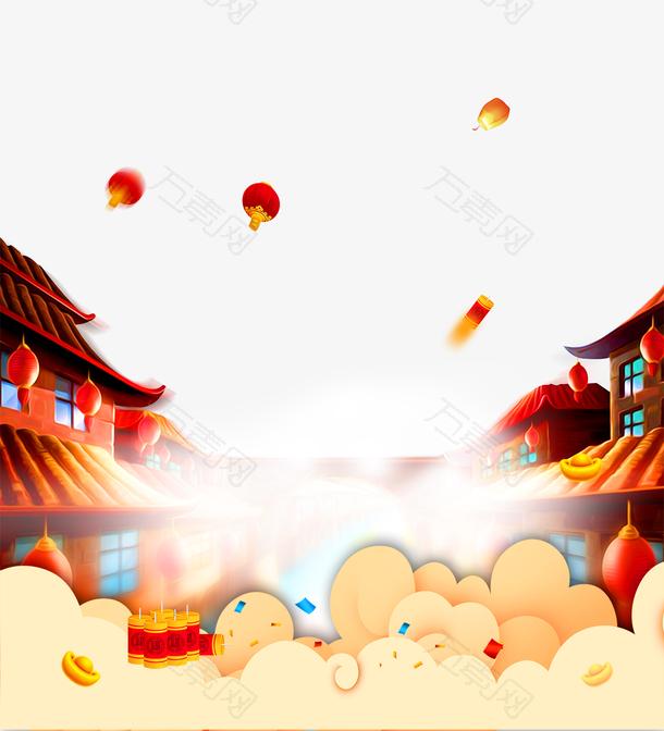 喜庆春节背景设计