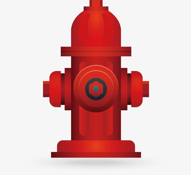 红色路边火警消防栓