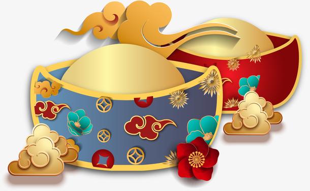 国潮金元宝装饰