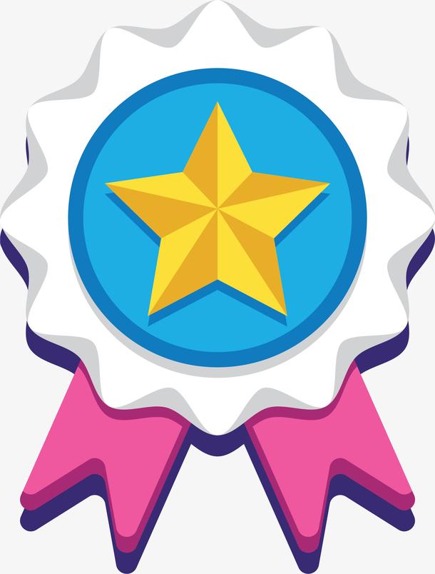 奖牌五角星图标UI设计