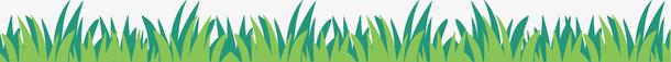 矢量图水彩绿色草坪