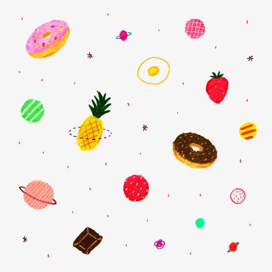 卡通美食水果图标