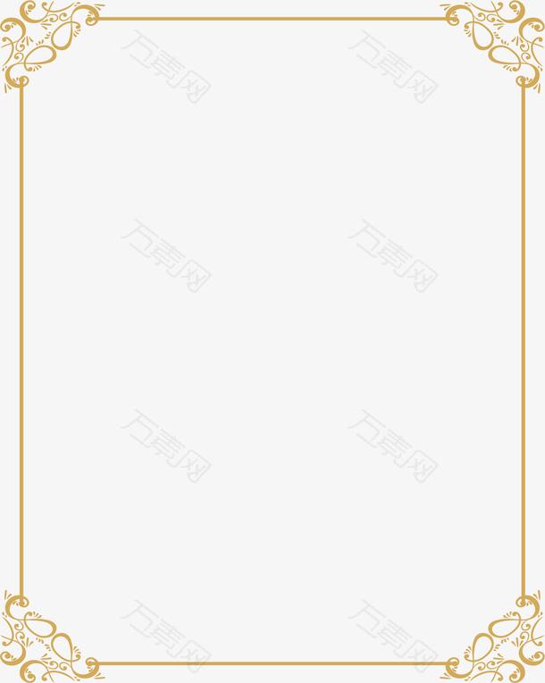 金黄色欧式花藤边框