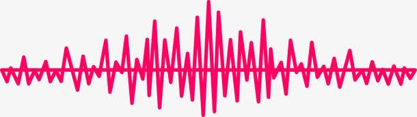 彩色声波波纹矢量图