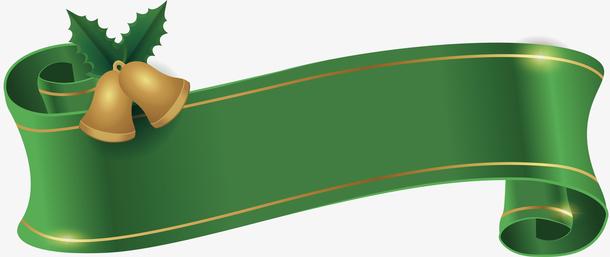 绿色彩带标题框