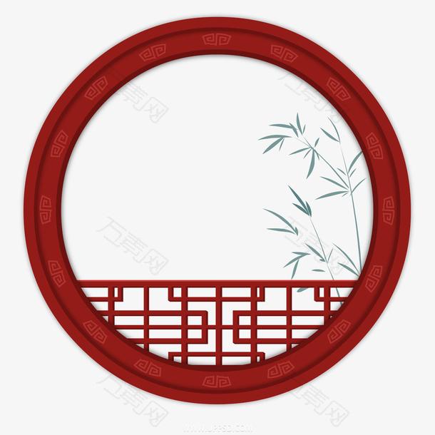 国潮中国风边框竹