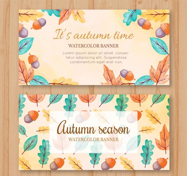 2款彩绘秋季橡子和树叶