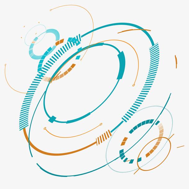 抽象科技图形矢量插画